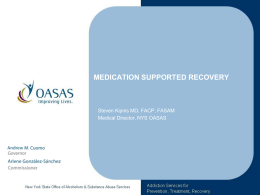 Medication Supported Recovery