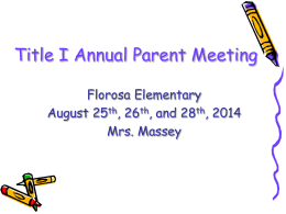 Title 1 Parent Meeting Powerpoint