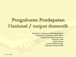 Pengukuran GDP (domestic output)