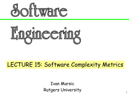Software Engineering Lecture Slides - ECE