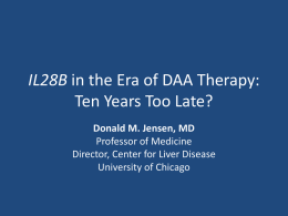 IL28B in the Era of DAA Therapy: Ten Years Too Late
