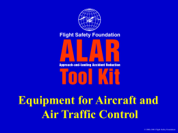 Equipment for Aircraft and Air Traffic Control