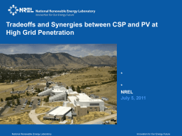 NREL Power point slide template - cover and main