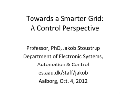 Smart Grid Projects at Automation & Control