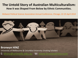 The Untold Story of Australian Multiculturalism: How