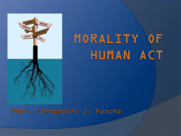The Morality of Human Act