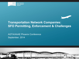 SFO Presentation - Airport Ground Transportation