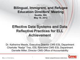 Charlotte: Effective Data Systems and Date Reflective Practices for
