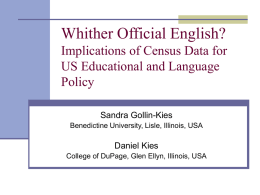 Whither Official English? Implications of Census Data