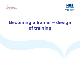 Becoming a trainer_design