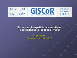 Diapositiva 1 - GISCoR - Gruppo Italiano Screening ColoRettale