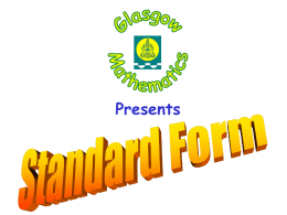 Standard Form - Bannerman High School