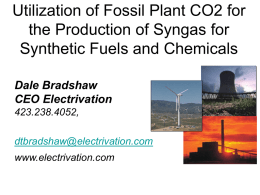 Utilization of Fossil Plant CO2 for the Production