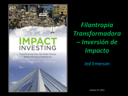 Impact Investing for Blended Value
