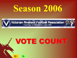 View PowerPoint presentation of Vote Count