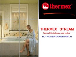 THERMEX STREAM series