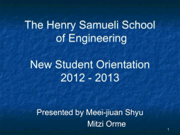 PowerPoint Presentation - The Henry Samueli School of