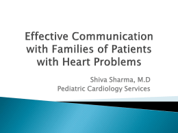 Effective communication with families of patients