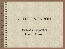 NOTES ON ENRON