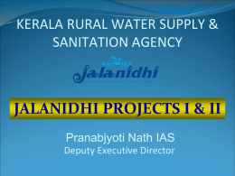 Jalanidhi Experience - Department of Water Supply and Sanitation