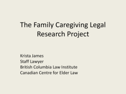 The Family Caregiving Legal Research Project