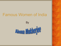 Famous Women of India