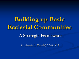 Building Up BECs - Website of Fr. Amado Picardal, CSsR