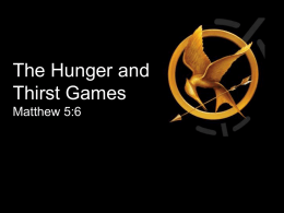 Hunger and Thirst Games Message 3