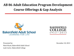 AB 86 Dec 18 2013 PPT of BAS & BC Course Program Assessment