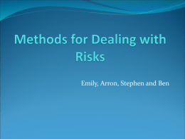 Methods for Dealing with Risks