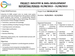 PROJECT: INDUSTRY & SMEs DEVELOPMENT REPORTING