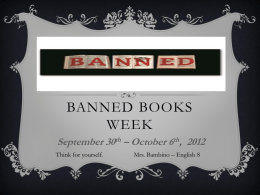 PowerPoint: Banned Books Week