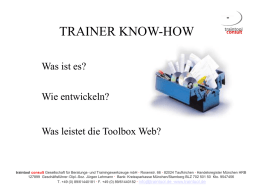 Folien Trainer Know How