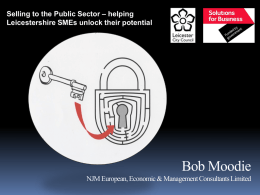 Adopting a Strategic Approach in Selling to the Public Sector