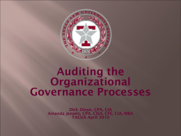 Governance Audit Presentation - Texas Association of College and