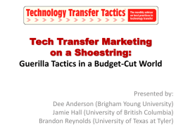 Tech Transfer Marketing on a Shoestring