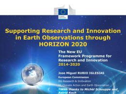 Horizon 2020 - Group on Earth Observations