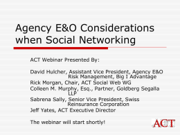 E&O and The Social Web - Independent Insurance Agent