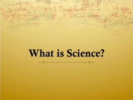 What do we know about science? - University of Southern California