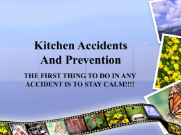 Six Types of Kitchen Accidents And Prevention