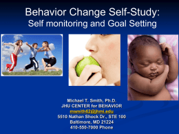 Behavior Change Self-Study Presentation