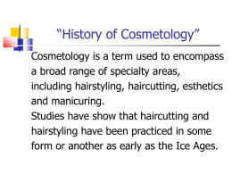 The History of Cosmetology Power Point