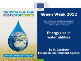 Energy use in water utilities-BoNJ-EEA v 2.1 - Eionet Projects