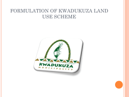 Implementing the PDA : Presentation by Kwadukusa Municipality