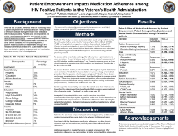 Patient Empowerment Impacts Medication Adherence among HIV