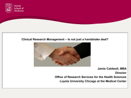 Clinical Research Management – Is not just a handshake deal?
