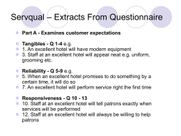 Servqual – Extracts From Questionnaire