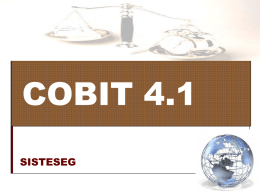 COBIT - sisteseg