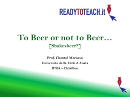 BEER! - Ready to teach