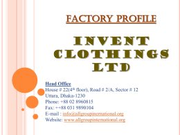 invent clothings ltd - ALL Group International